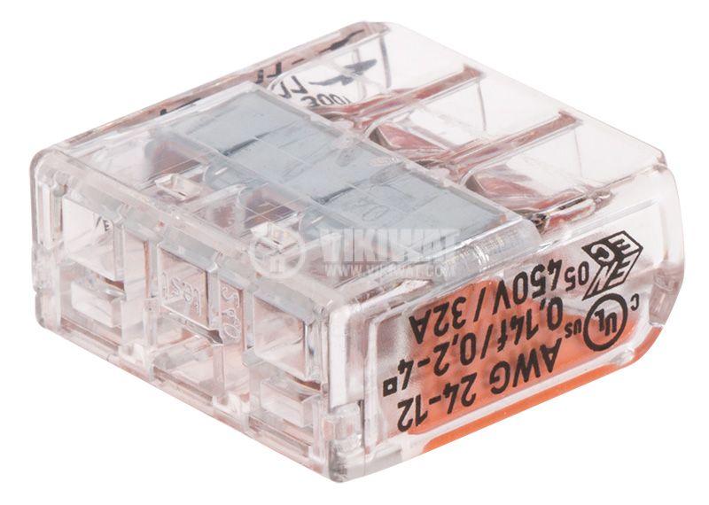 Бърза връзка 3 проводника WAGO 221-413 - 3
