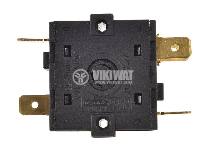 Електрически ключ 4поз., 16A/250VAC, T100/55   - 3