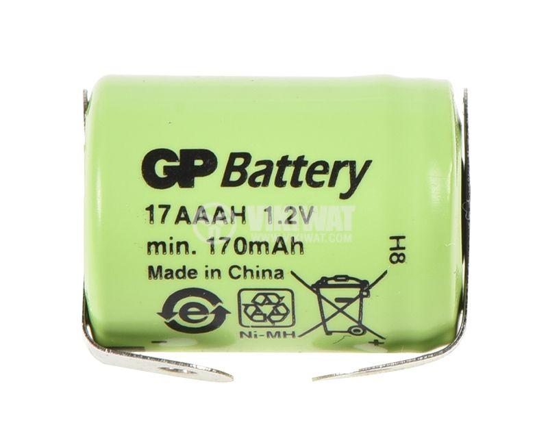 Акумулаторна батерия 170mAh, 1.2V, Ni-Mh, 1/3AAA   - 1