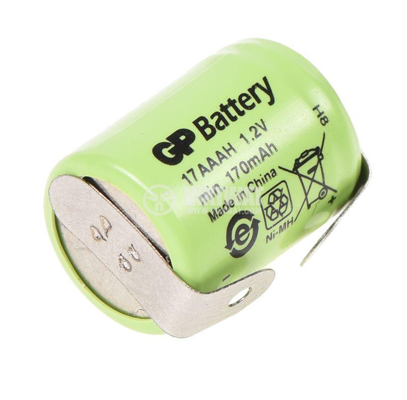 Акумулаторна батерия 170mAh, 1.2V, Ni-Mh, 1/3AAA   - 2