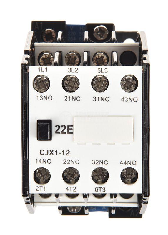 Контактор CJX1-12 3P 230V 12A 2xNO+2xNC - 5