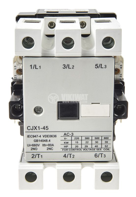Contactor CJX1-45, 3P, 220V, 45A - 5