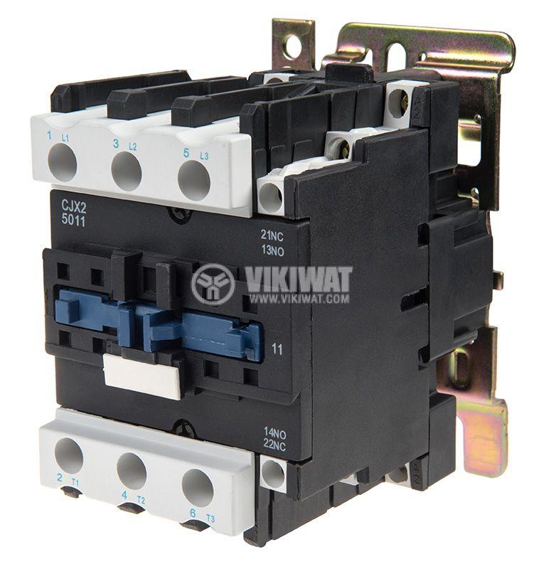 Контактор CJX2-D5011, 3P, 380V, 50A   - 1