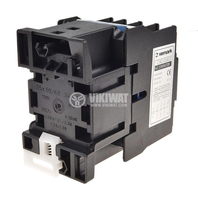 Contactor CJX2-D1810, 3P, 110V, 18A - 2