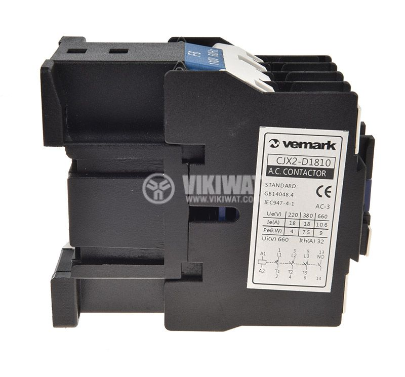 Contactor CJX2-D1810, 3P, 110V, 18A - 3