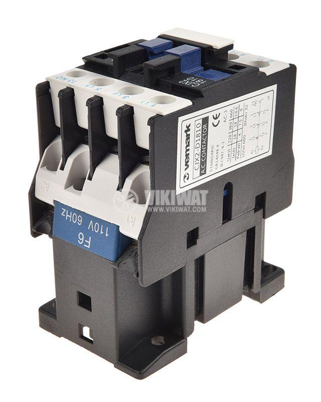 Contactor CJX2-D1810, 3P, 110V, 18A - 5