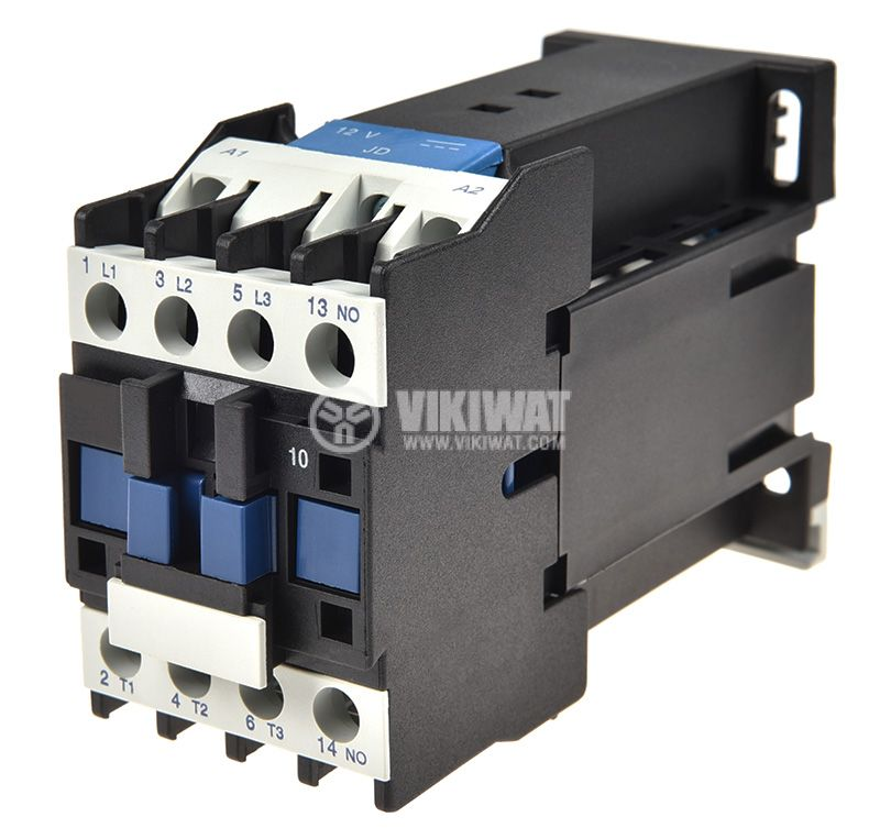Contactor 3P, CJX2-0910Z, 12V, 9A - 1