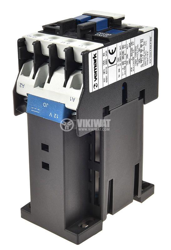 Contactor 3P, CJX2-0910Z, 12V, 9A - 4
