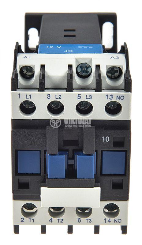 Contactor 3P, CJX2-0910Z, 12V, 9A - 6