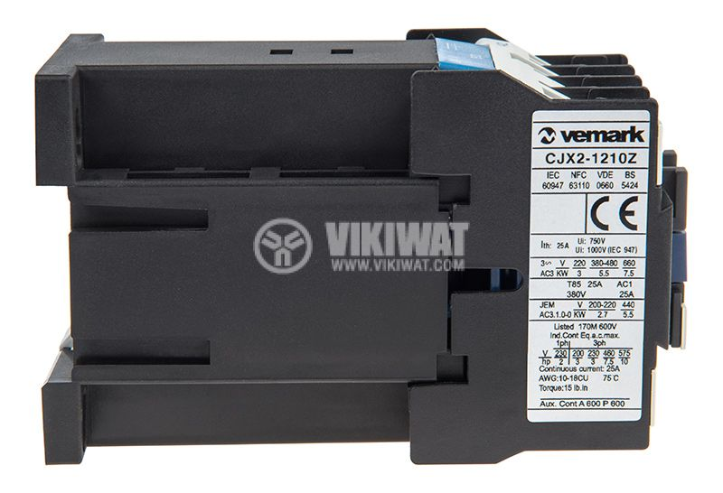 Contactor CJX2-1210Z, 3P, 24V, 12A   - 6
