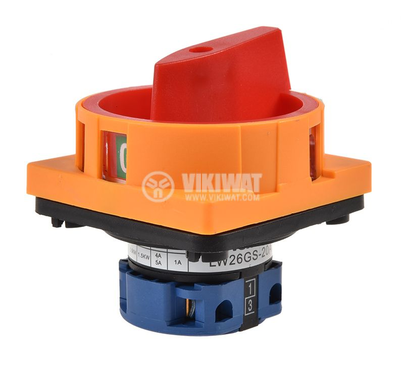 Rotary Cam Switch 20A, 240V, 1sect., 2contacts, 2pos - 3