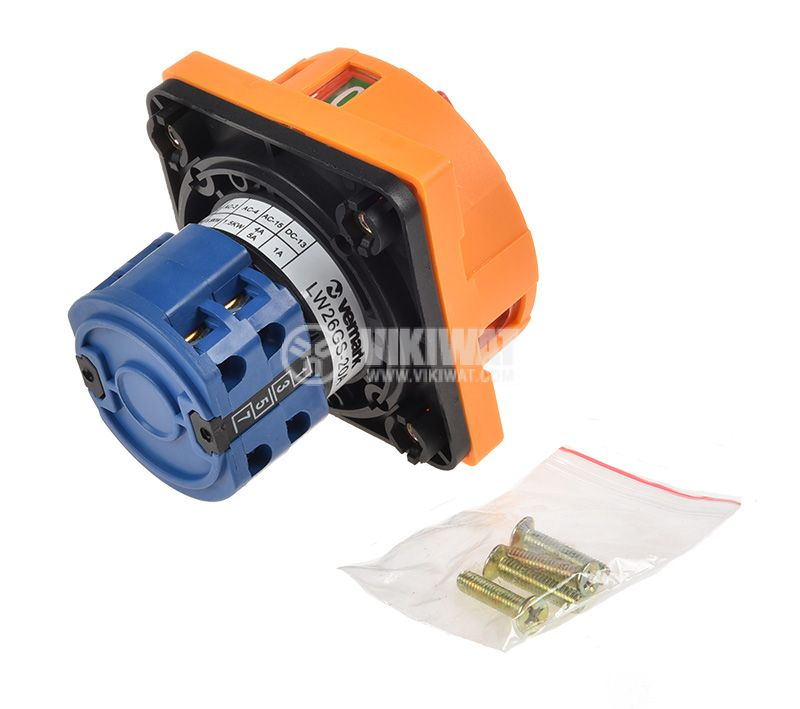 Rotary Cam Switch 20A, 240V, 2sect., 3contacts, 2pos - 3