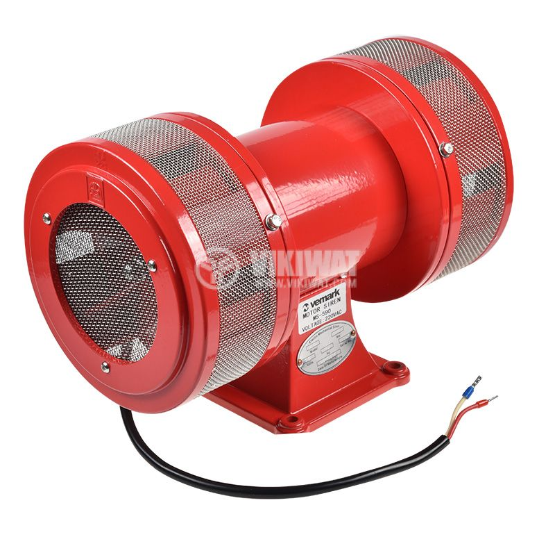 Motor siren MS590, 220V, 110dB, 270x195x155mm, siren, with screw - 1