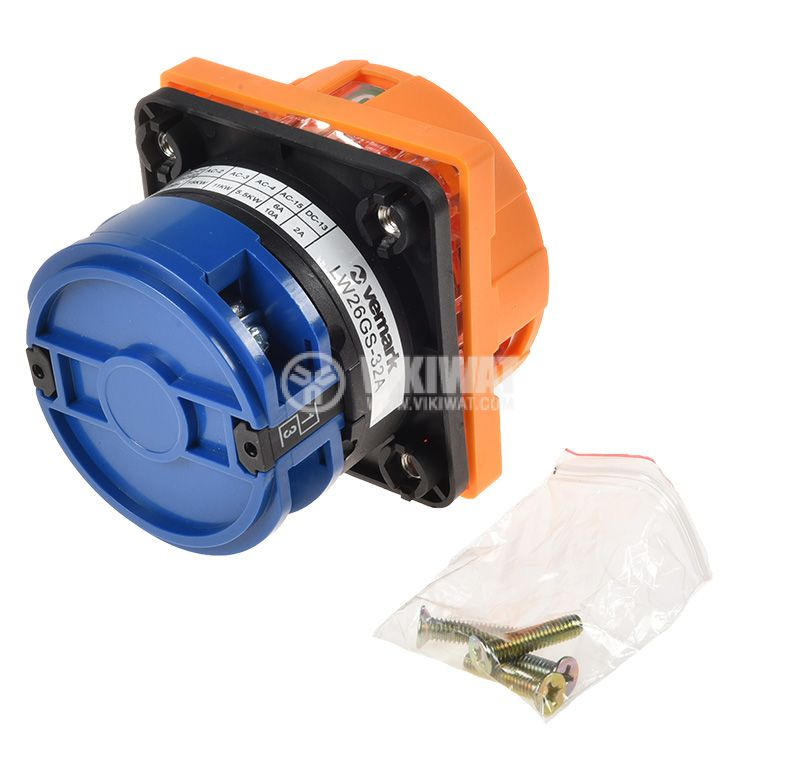 Rotary cam switch 32A, 250V, 1sect., 2contacts, 2pos.  - 2