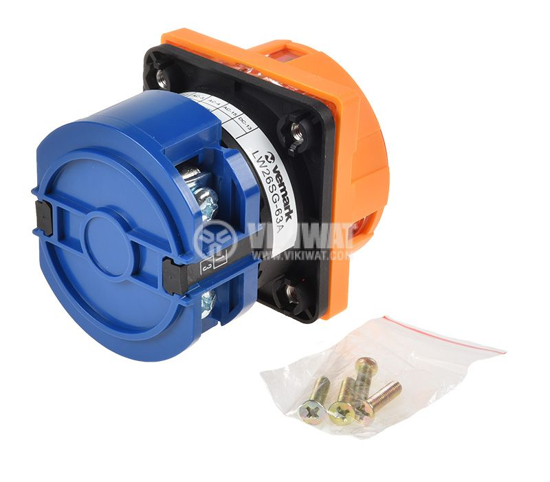 Rotary Cam Switch 63A, 240V, 1sect., 2contacts, 2pos. - 2