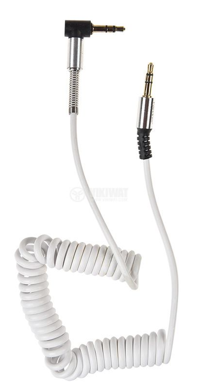 Audio cable Earldom ET-AUX23, stereo 3.5mm / M - stereo 3.5mm / M, white  - 2