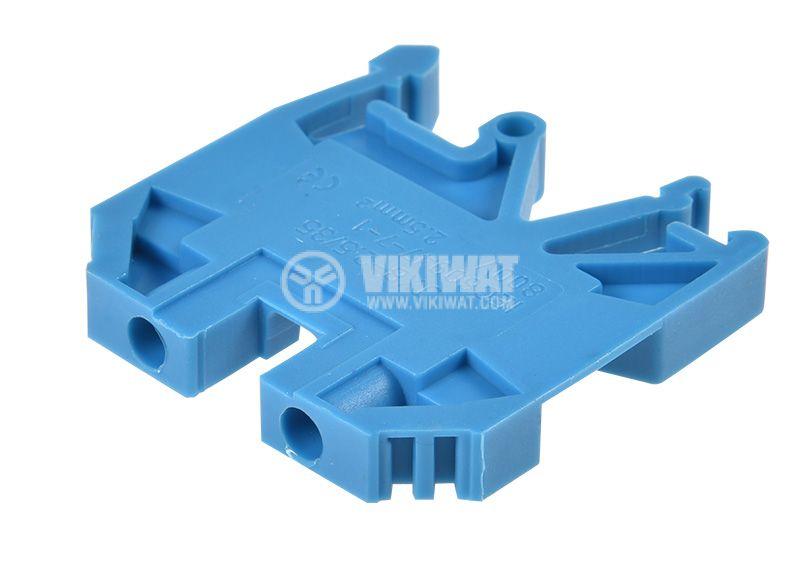 Редова клема, едноредова, JXB-2.5/35, 2.5mm2, 24A, 800V, синя  - 3