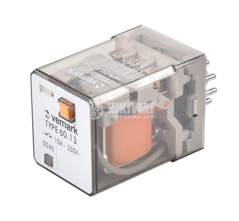 Реле 60.13, 110VAC, 10A, 250VAC, 3PDT, 3xNO+3xNC - 1