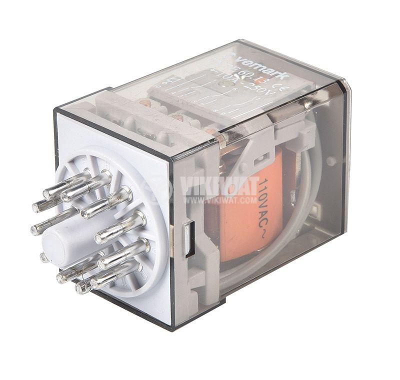 Реле 60.13, 110VAC, 10A, 250VAC, 3PDT, 3xNO+3xNC - 2