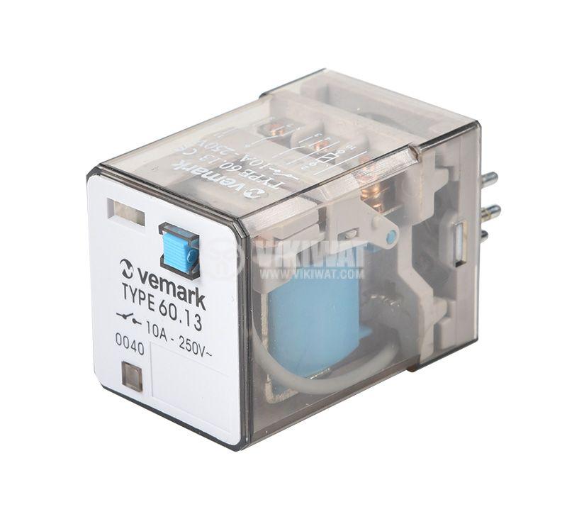 Relay 60.13, 24VDC, 10A, 250VAC, 3PDT - 1