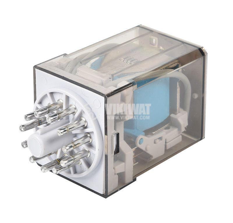 Елетромагнитно реле 60.13, 24VDC, 10A, 250VAC, 3PDT - 2