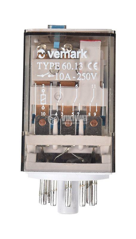 Electromagnetic relay 60.13, 24VDC 3PDT, 3xNO+3xNC - 3