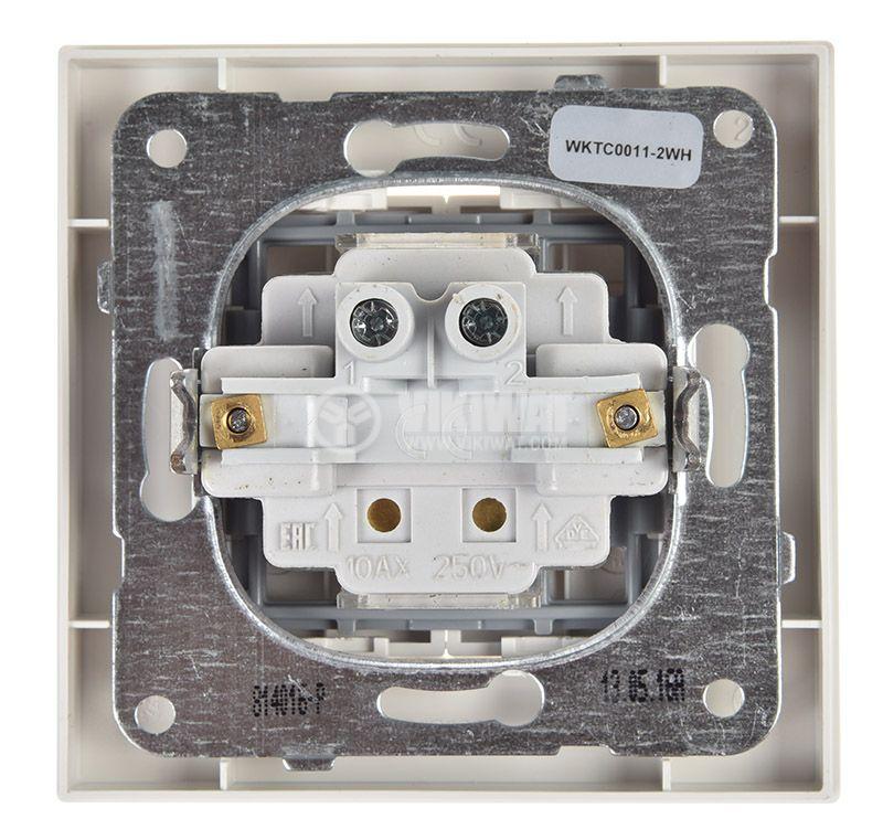 Електрически ключ, двоен, Karre Plus, Panasonic, сх.6 девиаторен - 3