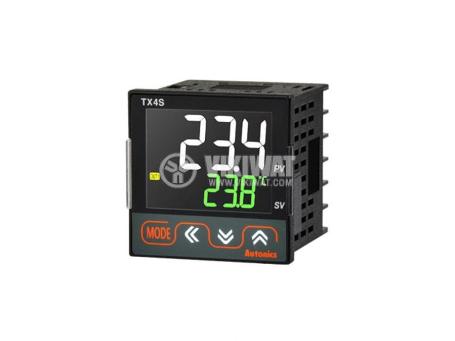 Термоконтролер TX4S-24R 100~240VAC -100~1700°C Cu50 Pt100 J K L R S T релеен+2 алармени - 6