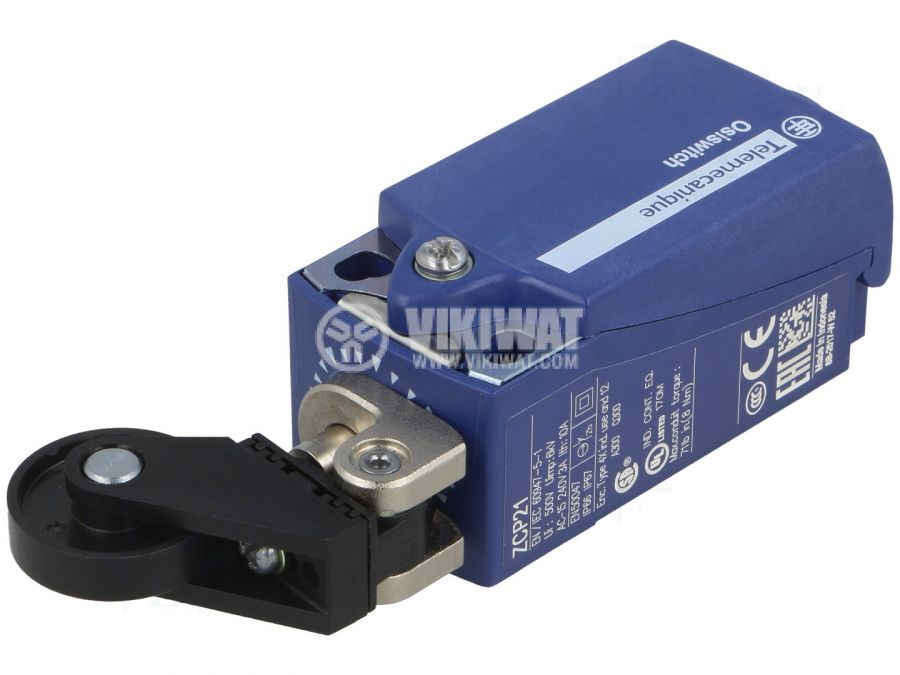 Limit switch XCKP2128P16, 3A/240VAC, NO+NC, with spring return, roller - 1