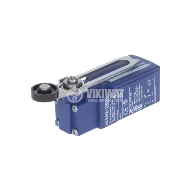 Краен изключвател XCKN2145G11 3A 240V NO+NC незадържащ рамо с ролка