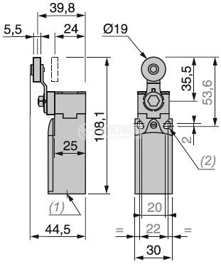 Limit switch with spring return - 4
