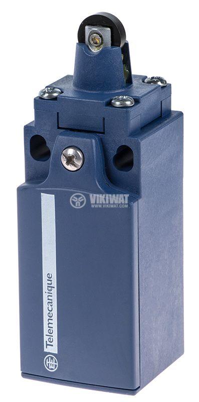 Краен изключвател XCKN2102G11, 3A/240VAC, NO+NC, незадържащ, щифт с ролка - 1