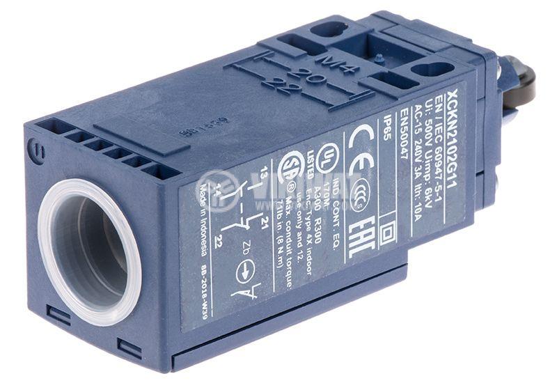 Краен изключвател XCKN2102G11, щифт с ролка - 3