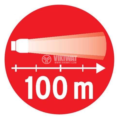 LED челник KL 200F,  LuxPremium, Brennenstuhl, 3xAA, 1LED, пластмаса, IP44, влагозащитен, 1178780 - 8