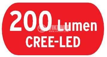 LED челник KL 200F,  LuxPremium, Brennenstuhl, 3xAA, 1LED, пластмаса, IP44, влагозащитен, 1178780 - 9