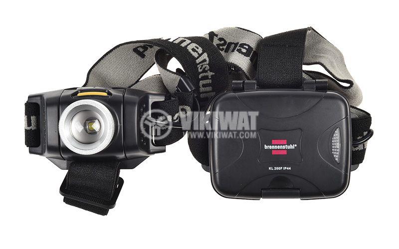 LED headlight KL 200F, LuxPremium, Brennenstuhl, 3xAA, 1LED, plastic, 200lm,  IP44, waterproof, 1178780 - 2