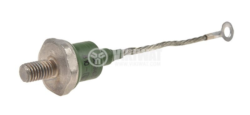 Rectifier diode B10-8, anode on body, 800V, 10A, with screw