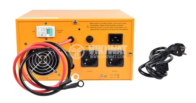 Аварийно захранване UPS 24VDC-220VAC 1600W истинска синусоида - 4