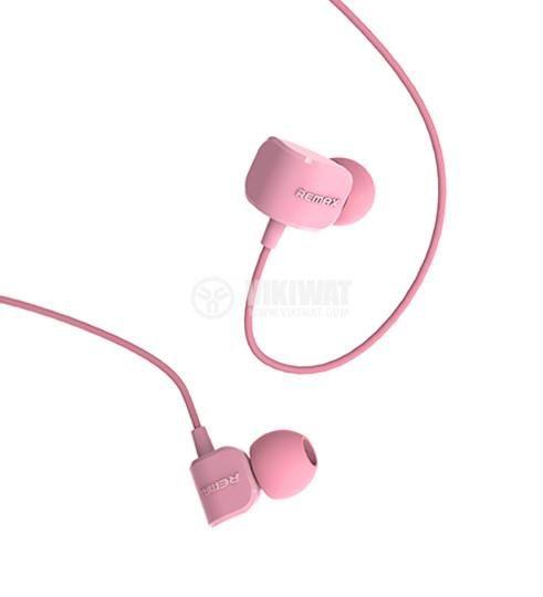 Слушалки RM-502 жак 3.5mm вграден микрофон розов - 1