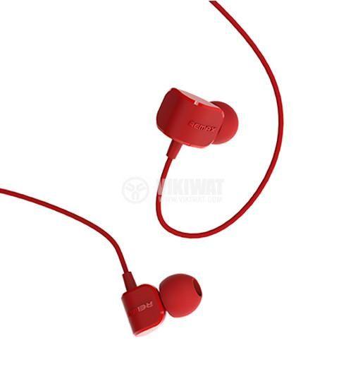 Слушалки RM-502 жак 3.5mm вграден микрофон червен - 1