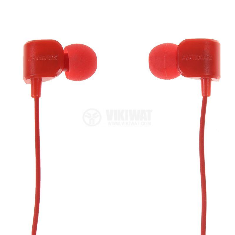 Слушалки RM-502, жак 3.5mm, вграден микрофон, червен   - 6