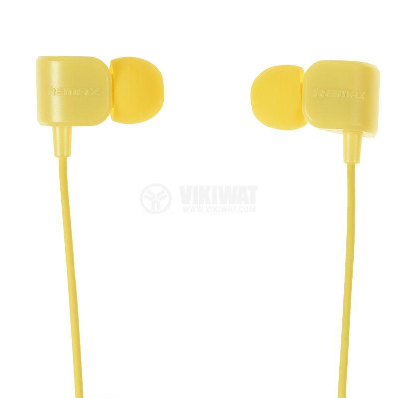 Слушалки RM-502,  жак 3.5mm,  вграден микрофон,  жълт - 6