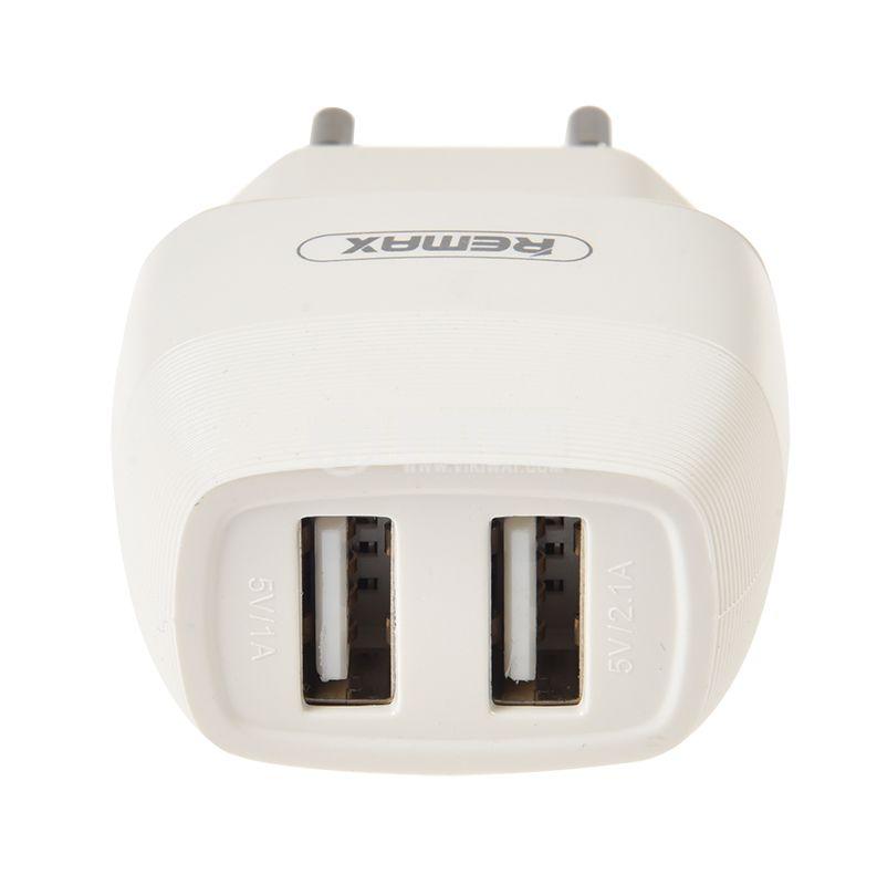 Зарядно за смартфон и таблет, 2.1A, 5VDC, Flinc RP-U29, бяло  - 3