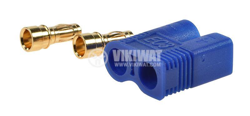 DC supply plug male, 50A/500VAC, soldering   - 3