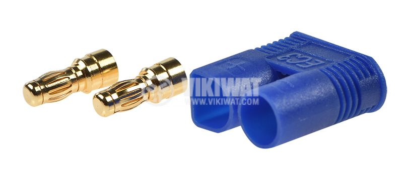 DC supply plug male, 50A/500VAC, soldering  - 2
