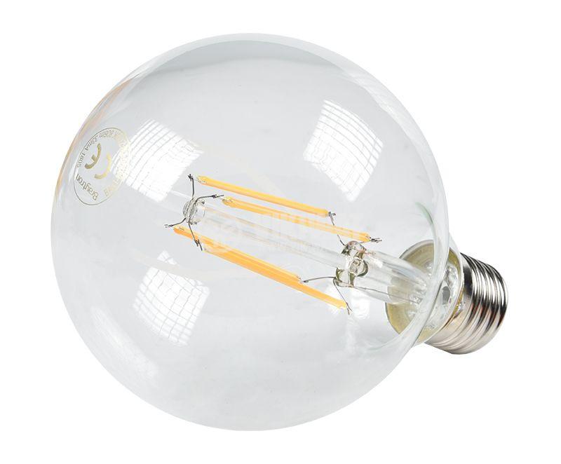 LED filament крушка - глобус G95, E27, 7W, прозрачно стъкло, димираща, BA41-60720 - 2