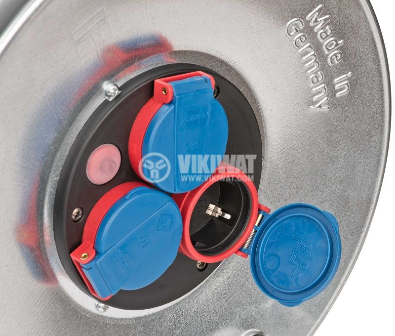Extension reel, Brennenstuhl, GARANT, 3-way, 25m, 3x2.5mm2, thermal protection, 1198350 - 3