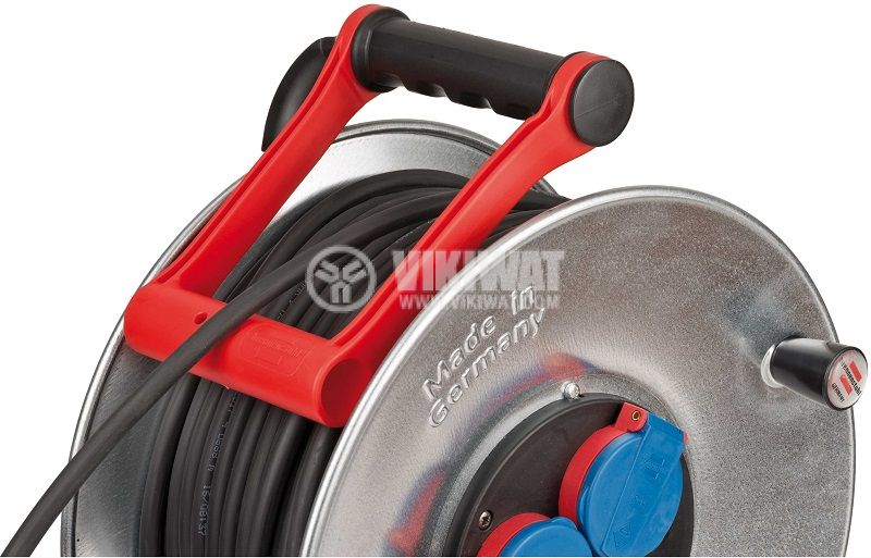 Extension reel, Brennenstuhl, GARANT, 3-way, 25m, 3x2.5mm2, thermal protection, 1198350 - 4