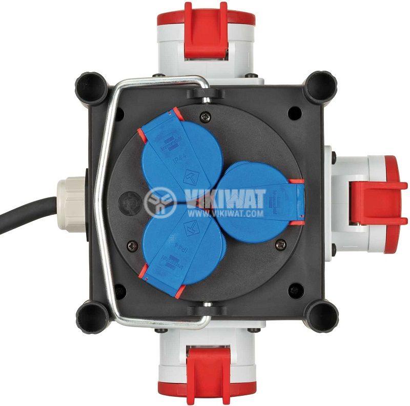 Power Distributor, Brennenstuhl, BSV 3 LS E/16 2, 6-way, 2m, 5x1.5mm2, black, 1153680100 - 2
