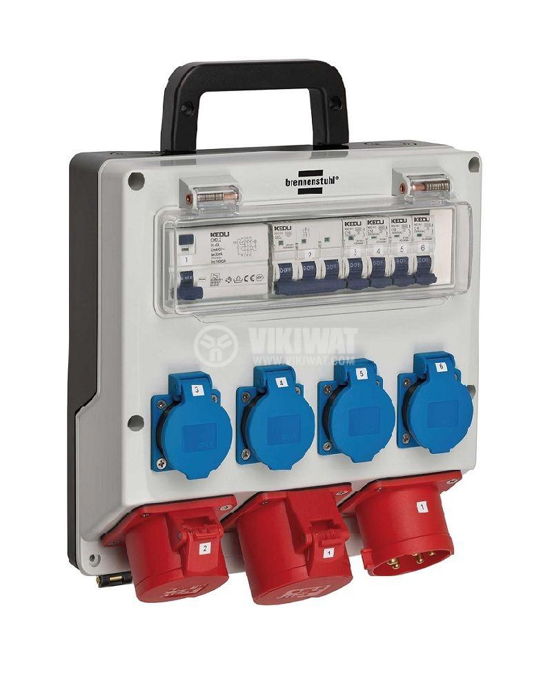 Portable power distributor, Brennenstuhl, WV 4/32 A, IP44, waterproof, 1154890020 - 1